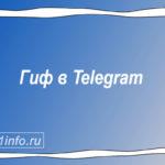 Гиф в мессенджере Телеграм.