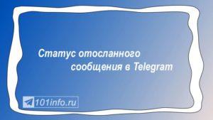 Read more about the article Статус отосланного сообщения в Telegram