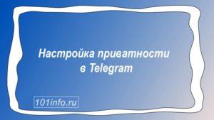 Read more about the article Настройка приватности в Telegram