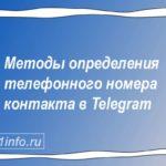 Методы определения телефонного номера контакта в Telegram